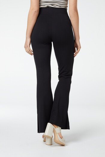 Pantalon flair met split