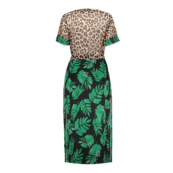Jurk met animal/leaf print