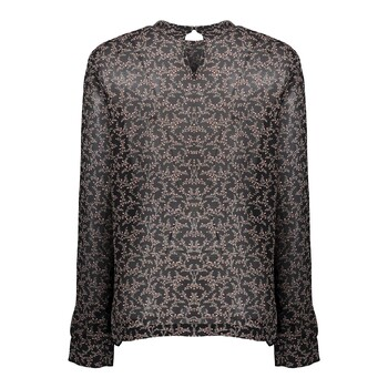 Blouse ruches met print